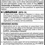 Situation Vacant : Librarian