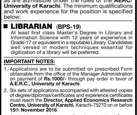 jobs-in-applied-economics-and-research-centre-aerc-university-of-karachi